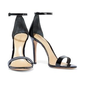 SCHUTZ Black Patent Leather Cadey-Lee Sandals 5.5